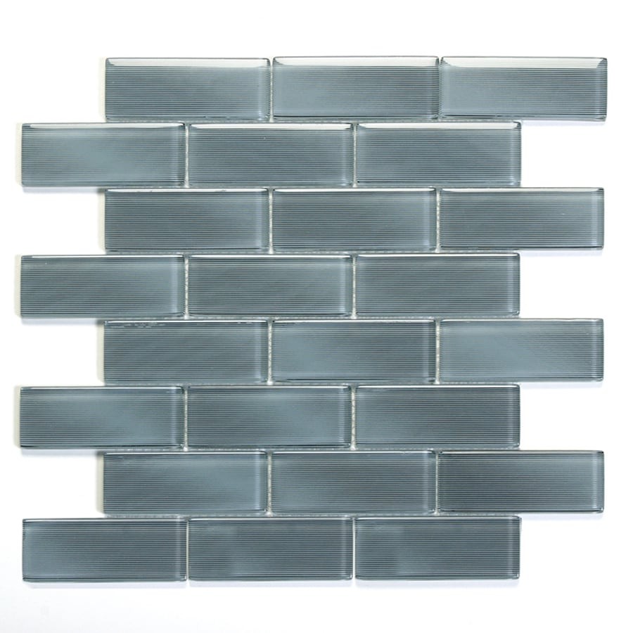 Solistone Mardi Gras Glass 10-Pack Metairie Mosaic Glass Wall Tile (Common: 12-in x 12-in; Actual: 12-in x 12-in)