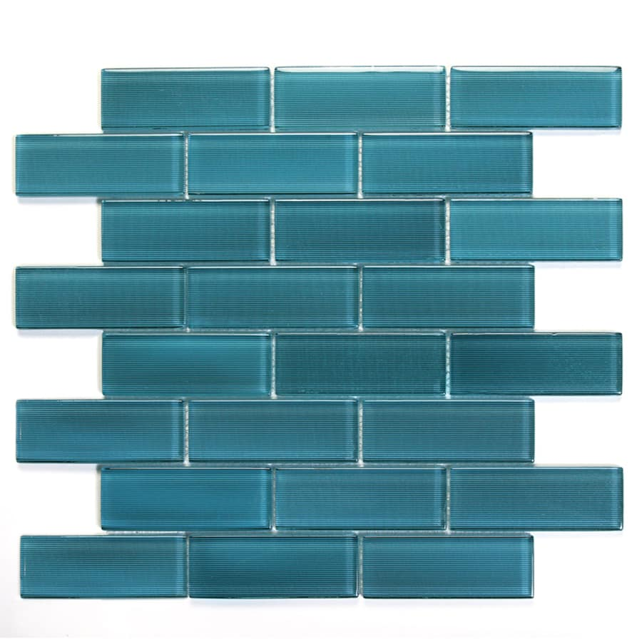 Solistone Mardi Gras Glass 10-Pack Erato Mosaic Glass Wall Tile (Common: 12-in x 12-in; Actual: 12-in x 12-in)