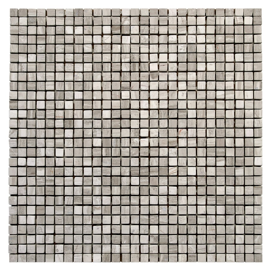 Solistone Haisa Marble 10-Pack Haisa Light Uniform Squares Mosaic Marble Wall Tile (Common: 12-in x 12-in; Actual: 12-in x 12-in)