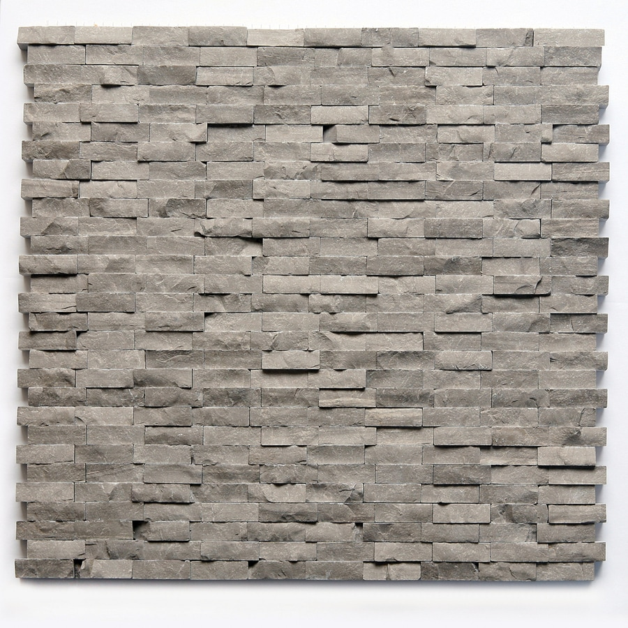 Solistone Haisa Marble 10-Pack Haisa Dark Mosaic Marble Wall Tile (Common: 12-in x 12-in; Actual: 12-in x 12-in)