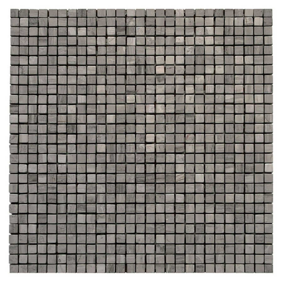 Solistone Haisa Marble 10-Pack Haisa Dark Uniform Squares Mosaic Marble Wall Tile (Common: 12-in x 12-in; Actual: 12-in x 12-in)