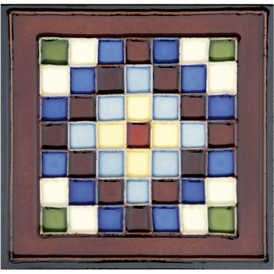 Solistone Hand-Painted Ceramic 10-Pack Cuadros Ceramic Wall Tile (Common: 6-in x 6-in; Actual: 6-in x 6-in)