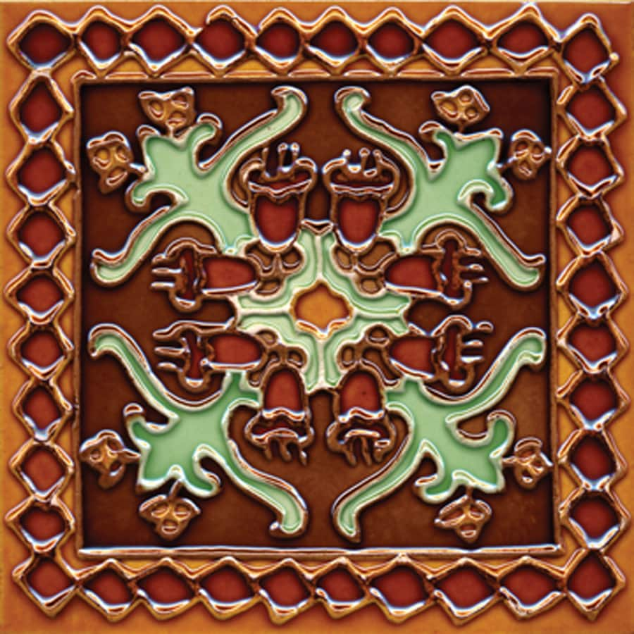 Solistone Hand-Painted Ceramic 10-Pack Oaxaca Ceramic Wall Tile (Common: 6-in x 6-in; Actual: 6-in x 6-in)