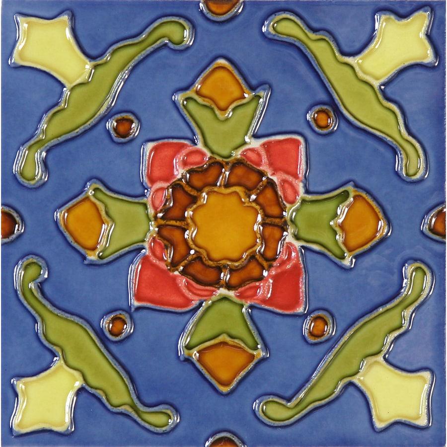 Shop solistone hand painted ceramic 10 pack cactus ceramic - Hand painted ceramic tile ...