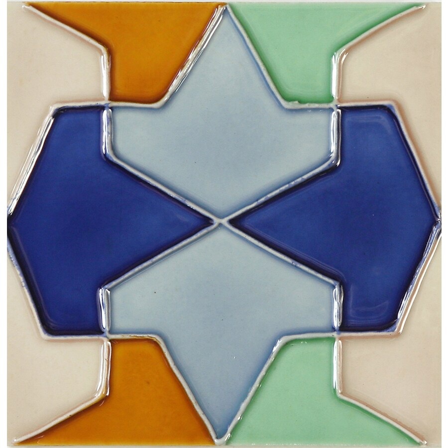 Solistone Hand-Painted Ceramic 10-Pack Conos Ceramic Wall Tile (Common: 6-in x 6-in; Actual: 6-in x 6-in)