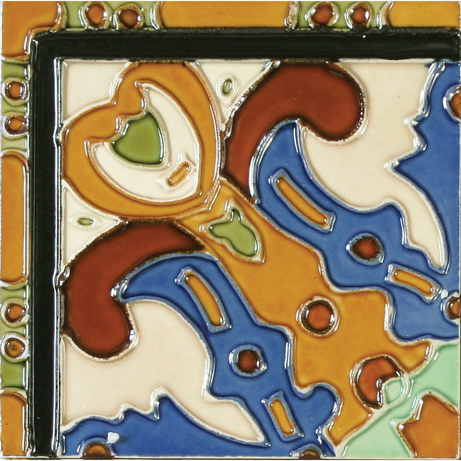 Solistone Hand-Painted Ceramic 10-Pack Figuras Ceramic Wall Tile (Common: 6-in x 6-in; Actual: 6-in x 6-in)