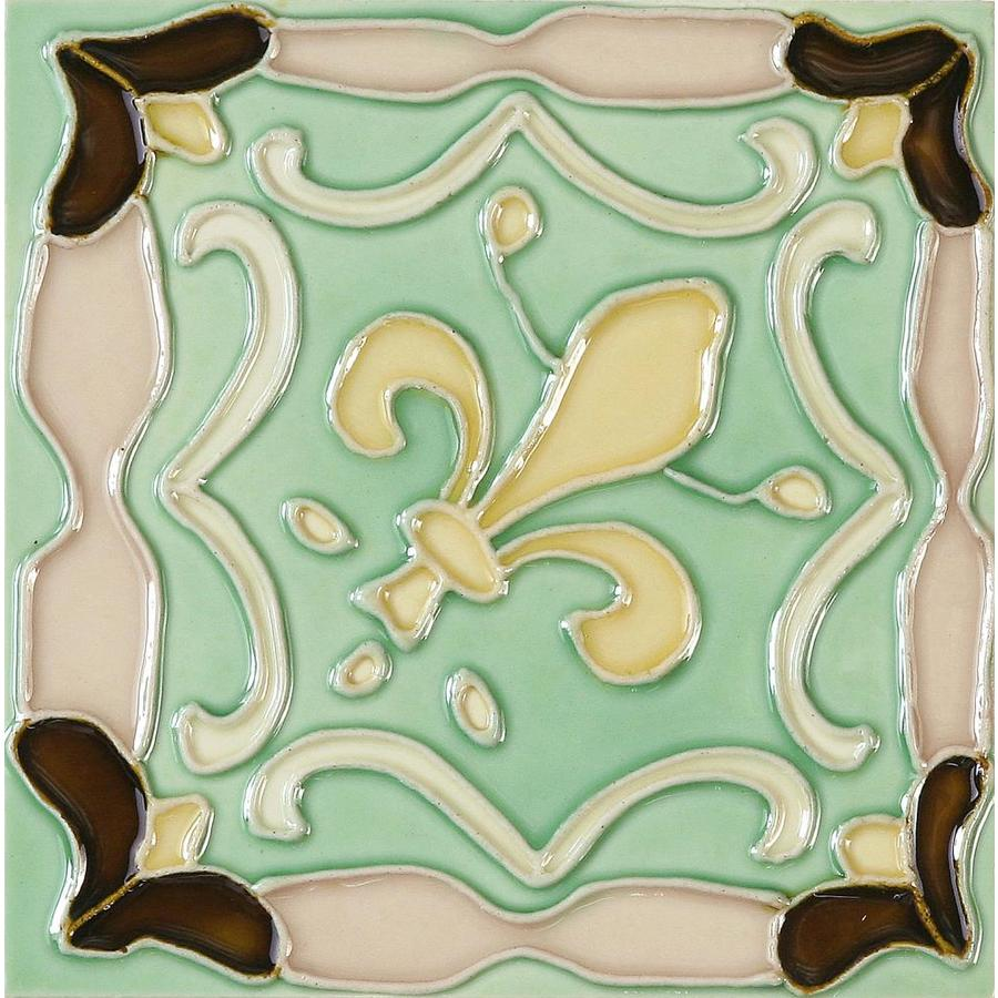 Shop Solistone Hand Painted Ceramic 10 Pack Fleur De Lis Ceramic
