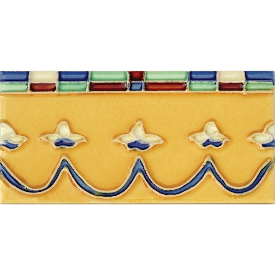 Solistone Hand-Painted Ceramic 10-Pack Coronita Ceramic Wall Tile (Common: 3-in x 6-in; Actual: 3-in x 6-in)