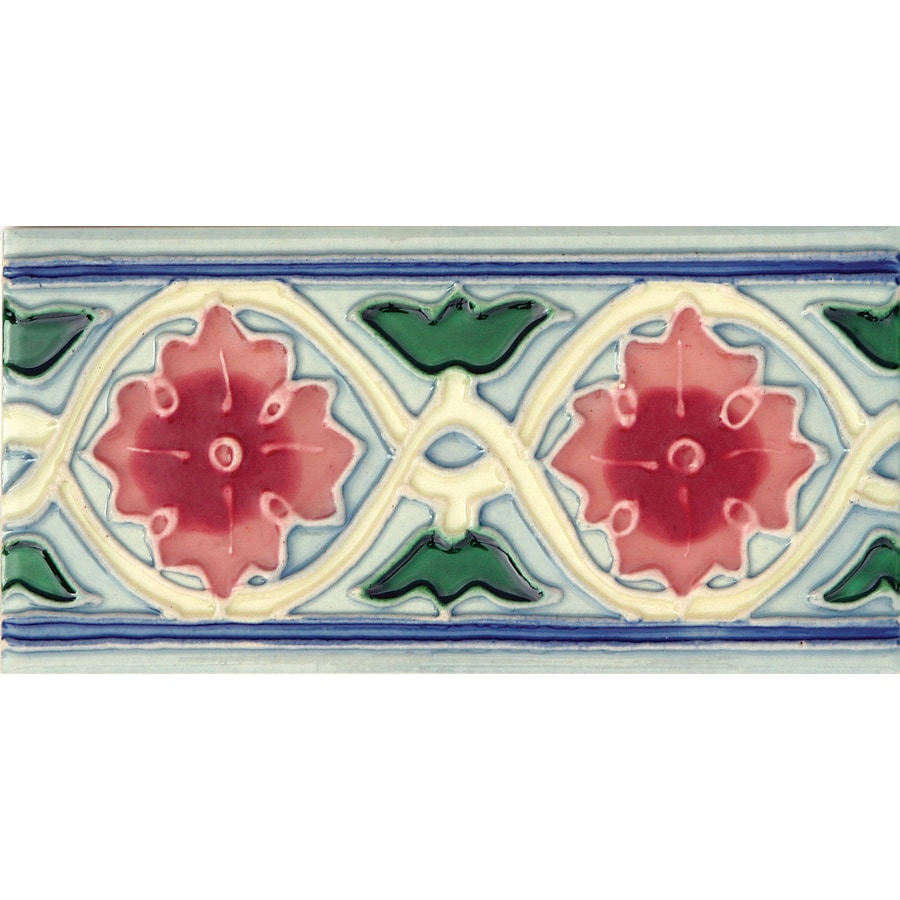 Solistone Hand-Painted Ceramic 10-Pack Rosita Ceramic Wall Tile (Common: 3-in x 6-in; Actual: 3-in x 6-in)