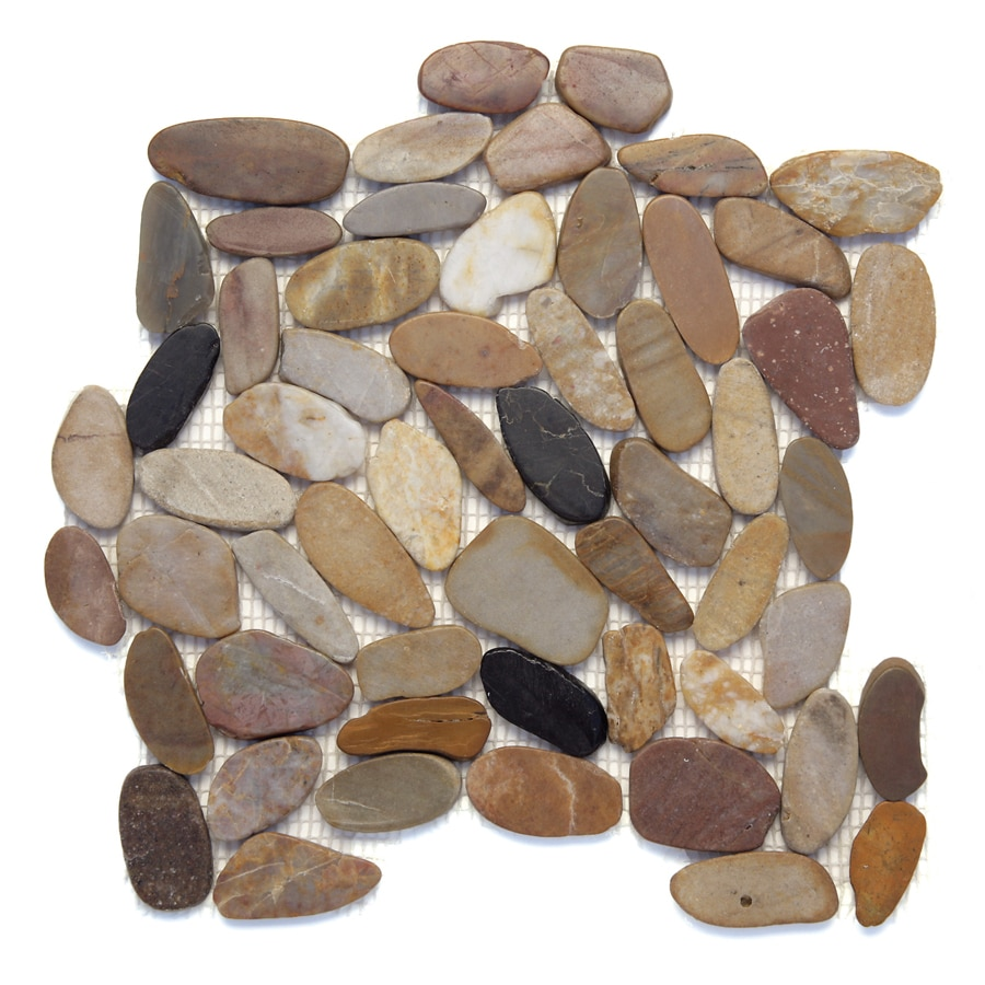 Solistone Koja Pebbles 10-Pack Anaconda Pebble Mosaic Floor and Wall Tile (Common: 12-in x 12-in; Actual: 12-in x 12-in)