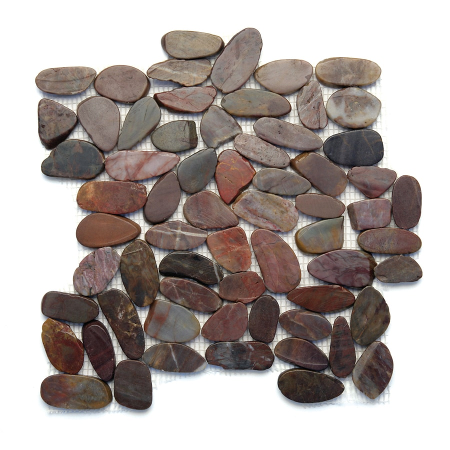Solistone Koja Pebbles 10-Pack Cobra Pebble Mosaic Floor and Wall Tile (Common: 12-in x 12-in; Actual: 12-in x 12-in)
