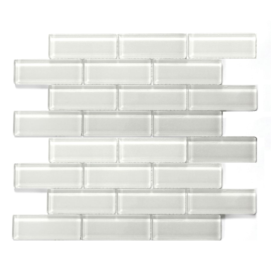 Solistone Mardi Gras Glass 10-Pack La Salle Polished Brick Mosaic Glass Wall Tile (Common: 12-in x 12-in; Actual: 12-in x 12-in)