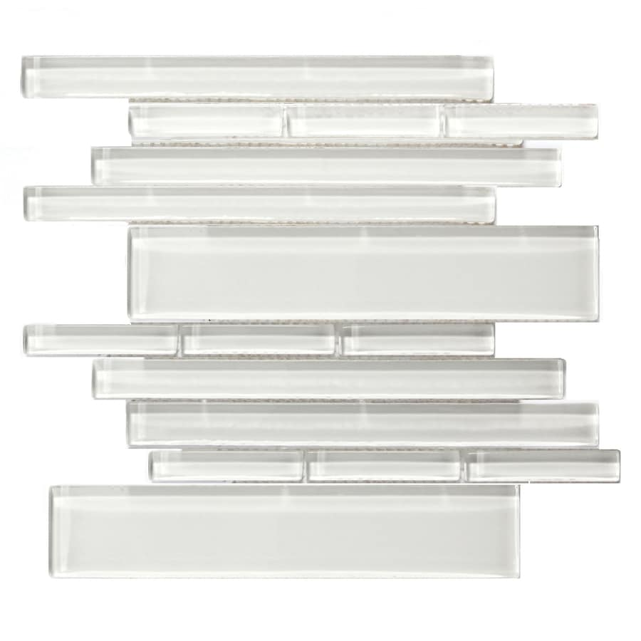 Solistone Piano Glass 10-Pack Concerto Polished Linear Mosaic Glass Wall Tile (Common: 10-1/2-in x 9-1/2-in; Actual: 10.5-in x 9.5-in)
