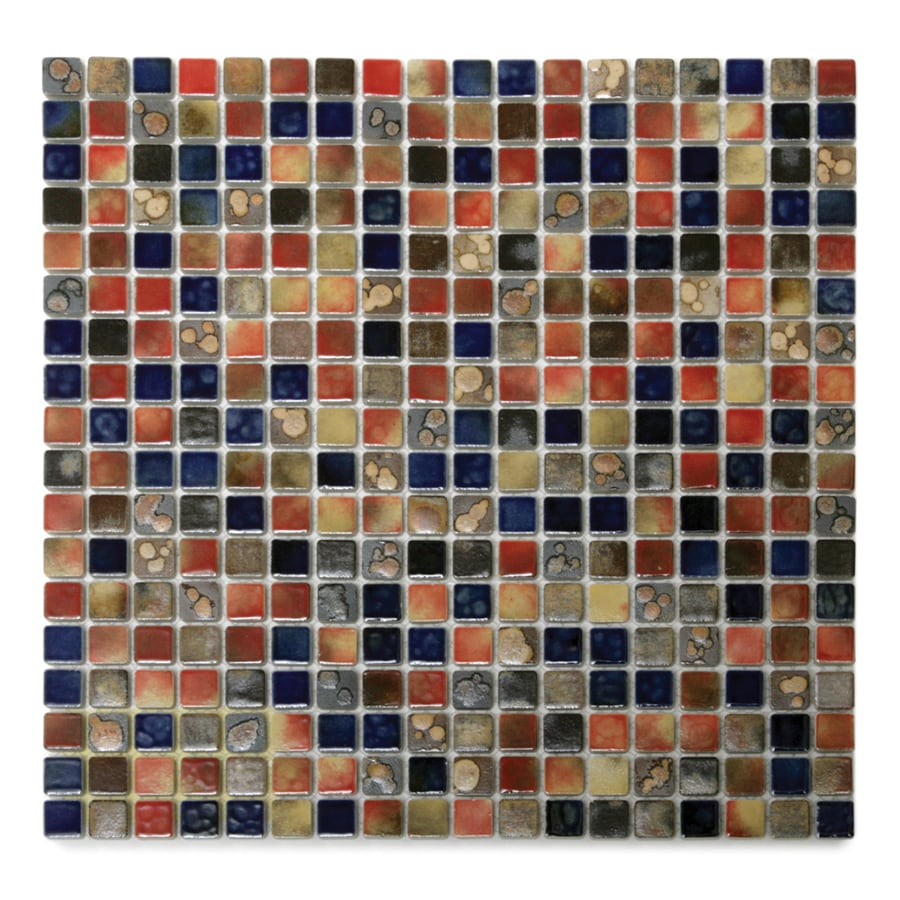 Solistone Terrene 10-Pack Calypso Glazed Uniform Squares Mosaic Porcelain Floor And Wall Tile (Common: 12-in x 12-in; Actual: 12-in x 12-in)