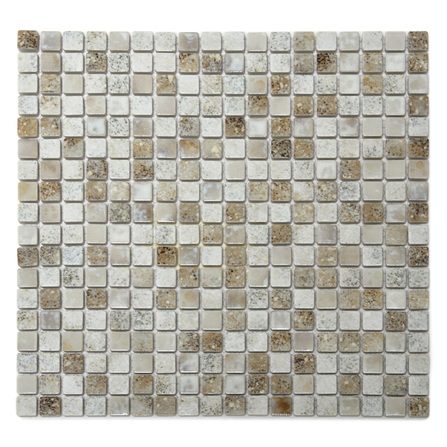 Solistone Terrene 10-Pack Demeter Glazed Uniform Squares Mosaic Porcelain Floor and Wall Tile (Common: 12-in x 12-in; Actual: 12-in x 12-in)