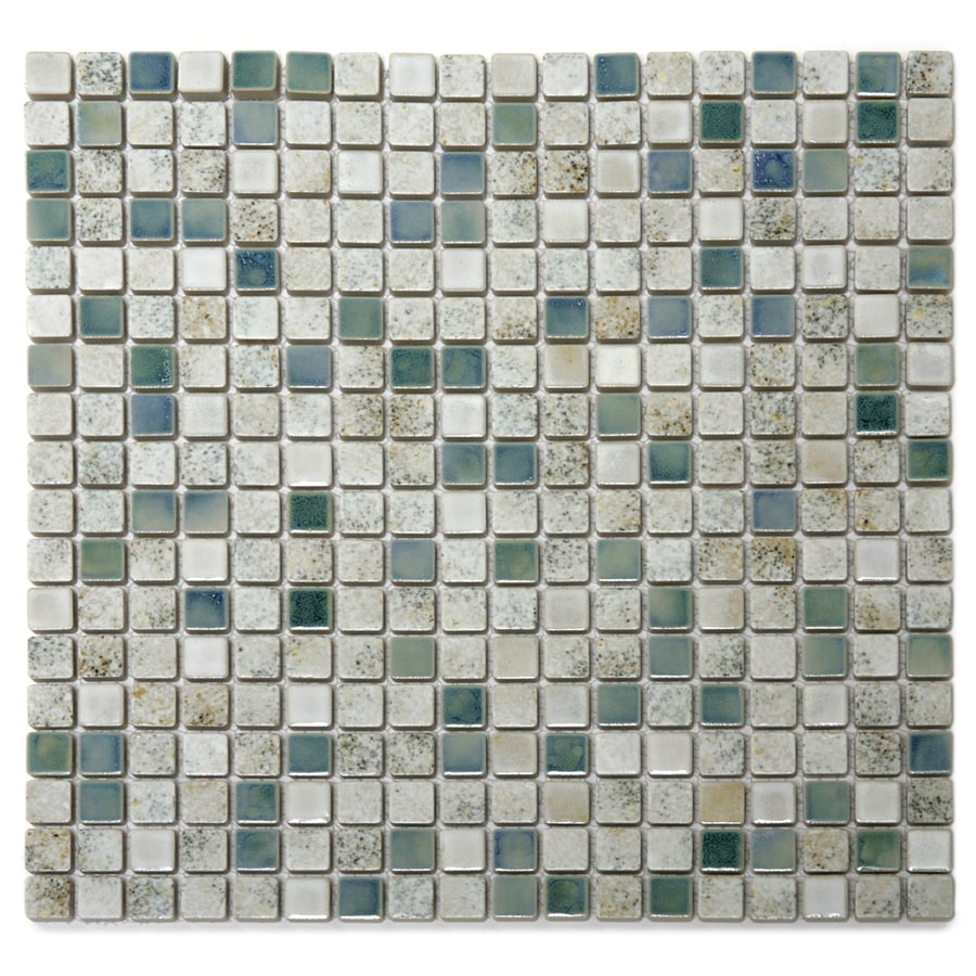 Solistone Terrene 10-Pack Mineral Glazed Uniform Squares Mosaic Porcelain Floor and Wall Tile (Common: 12-in x 12-in; Actual: 12-in x 12-in)
