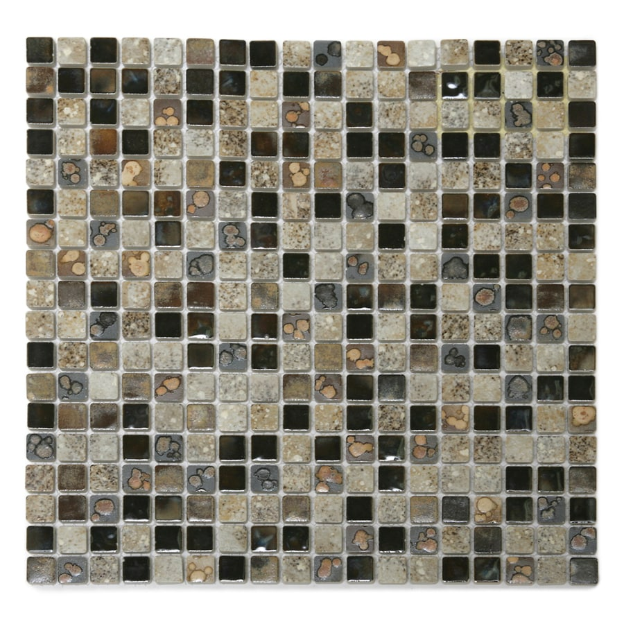 Solistone Terrene 10-Pack Solstice Glazed Uniform Squares Mosaic Porcelain Floor and Wall Tile (Common: 12-in x 12-in; Actual: 12-in x 12-in)