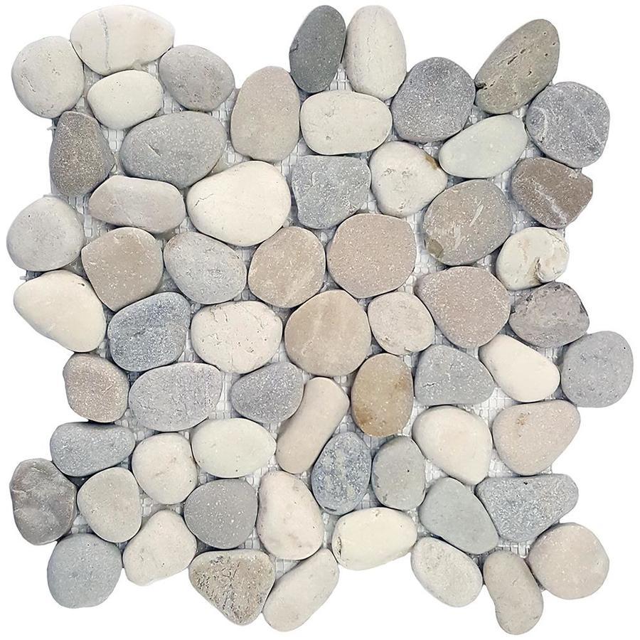 Solistone River Rock Pebbles 10 Pack Terrene Blend Pebble Mosaic Floor And Wall Tile