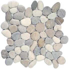 River Rock Pebbles Tile At Lowes