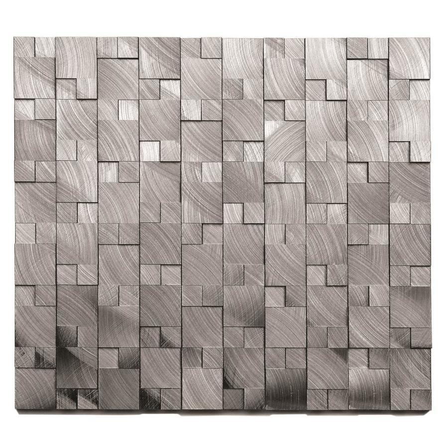 Solistone Aluminum 10 Pack Brushed Grey 11 In X 11 In