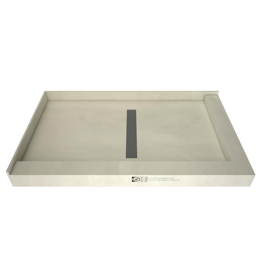 Redi Trench Gray Molded Polyurethane Shower Base (Common: 48-in W x 34-in L; Actual: 48-in W x 34-in L)