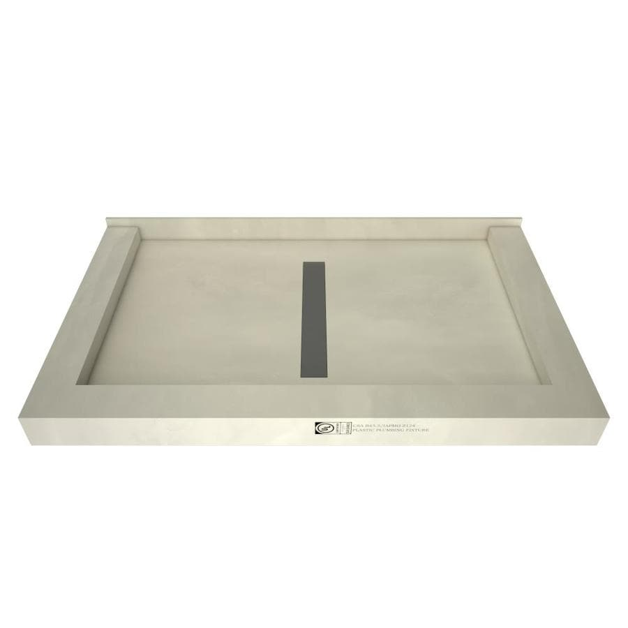 Redi Trench Gray Molded Polyurethane Shower Base (Common: 48-in W x 36-in L; Actual: 48-in W x 36-in L)