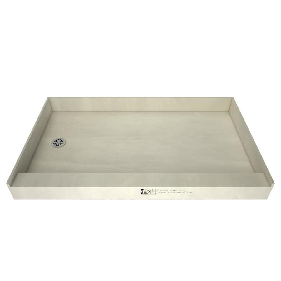 Redibase Made for Tile Fiberglass/Plastic Composite Shower Base (Common: 33-in W x 60-in L; Actual: 33-in W x 60-in L) with Left Drain