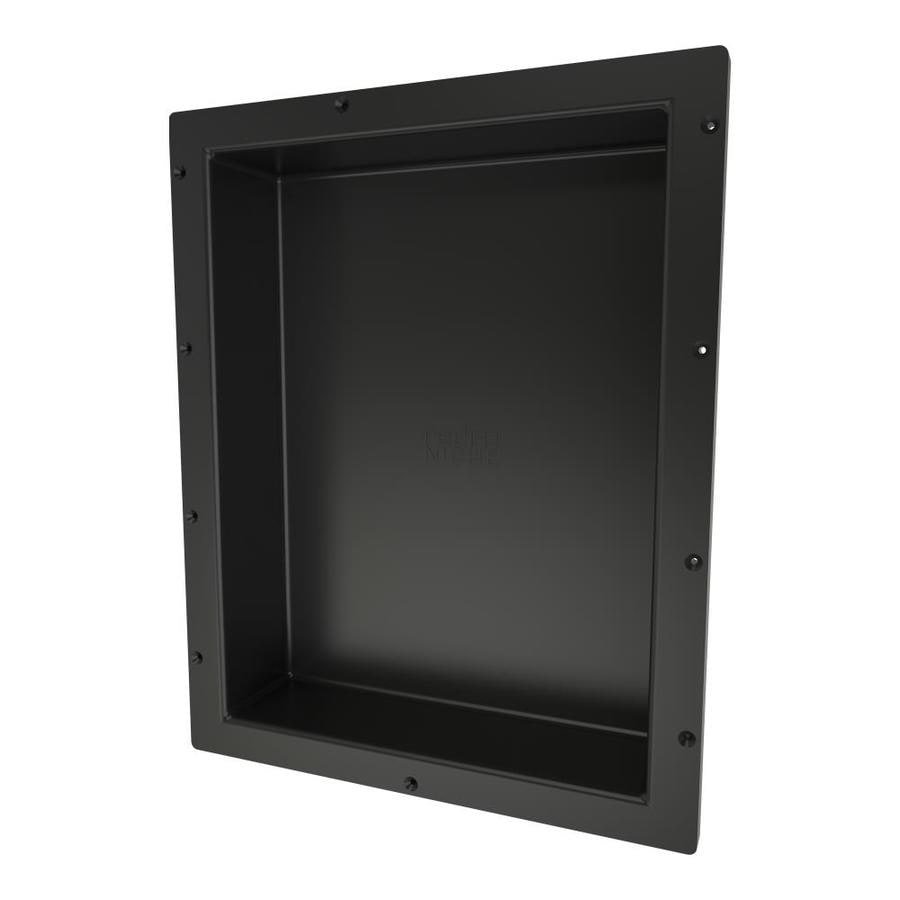 Tile Ready Redi Niche Black, Made for Tile Shower Wall Shelf