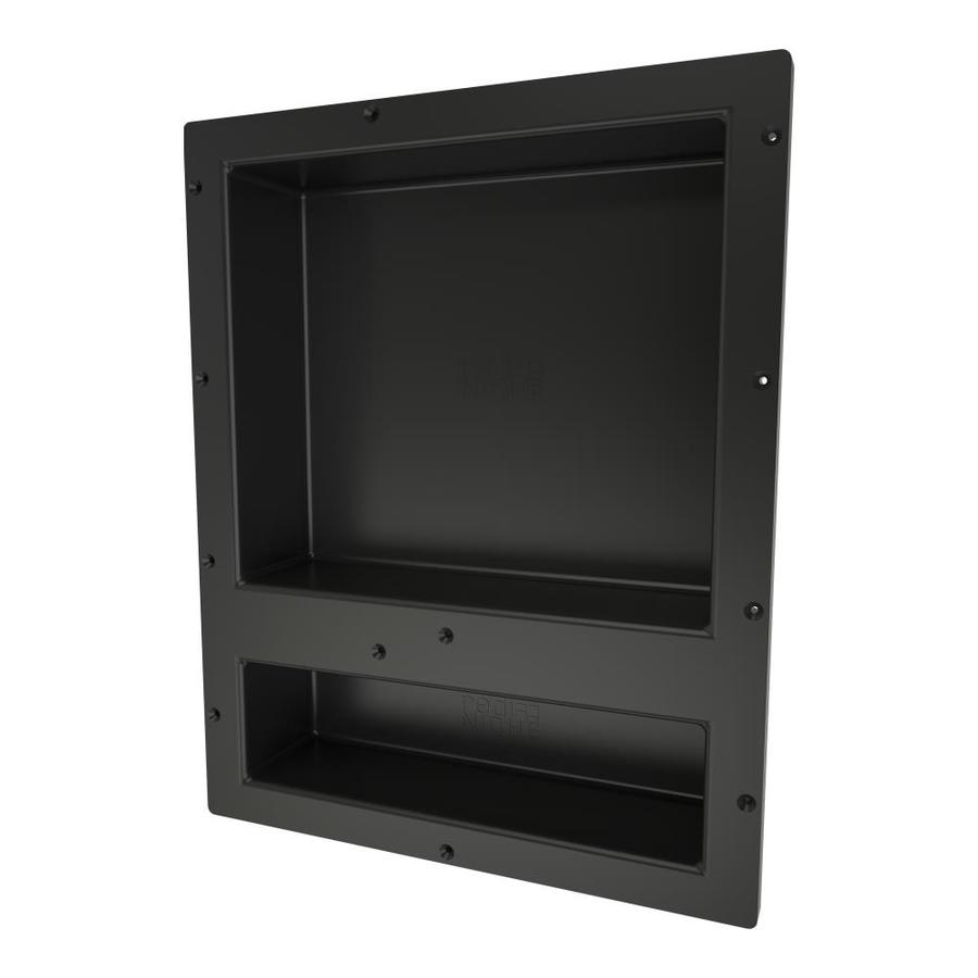 Tile Redi Niche Black Shower Wall Shelf
