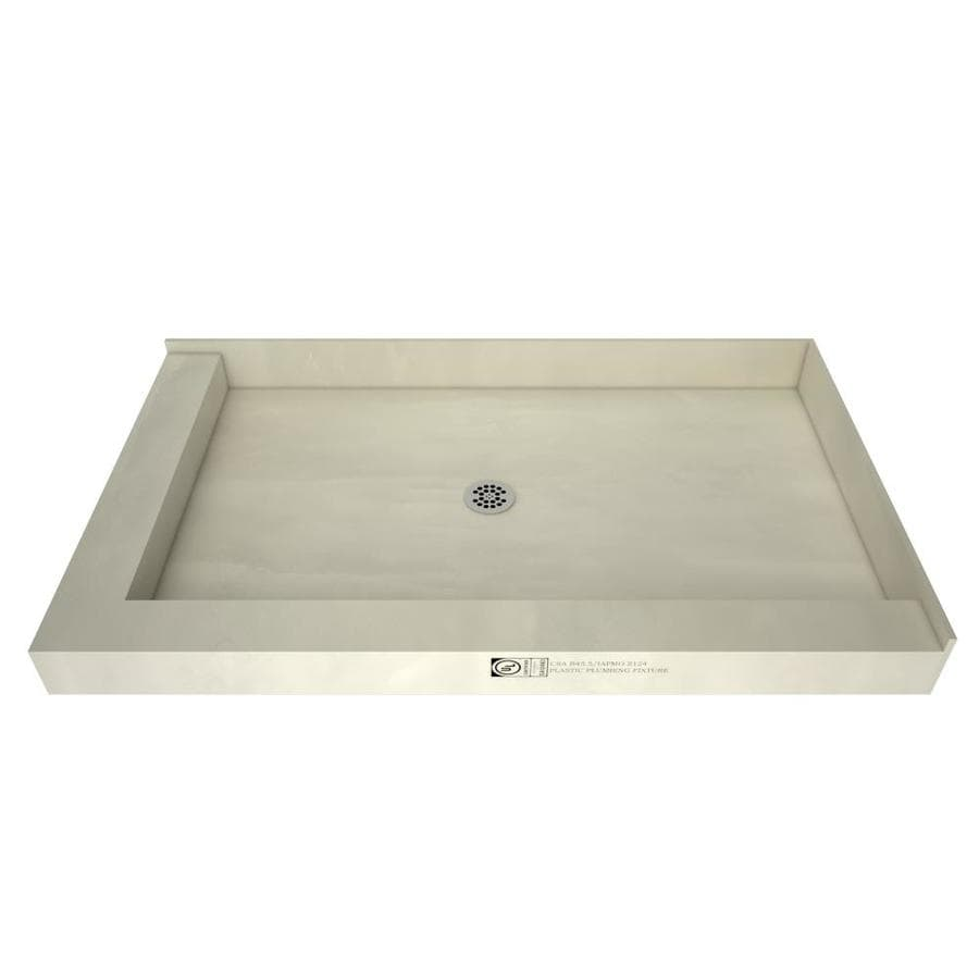 Tile Ready 60-in L x 30-in W Made for Tile Fiberglass/Plastic Composite Shower Base (Drain Included)