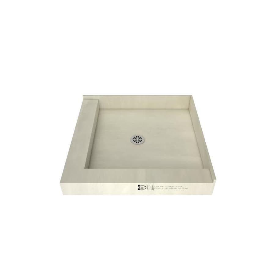 Tile Ready Made for Tile Fiberglass/Plastic Composite Shower Base (Common: 42-in W x 42-in L; Actual: 42-in W x 42-in L) with Center Drain