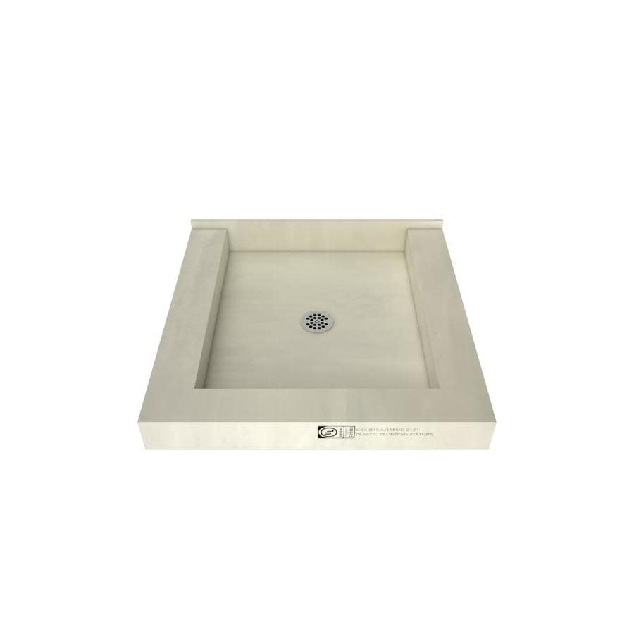 Tile Ready Made for Tile Fiberglass/Plastic Composite Shower Base (Common: 48-in W x 48-in L; Actual: 48-in W x 48-in L) with Center Drain