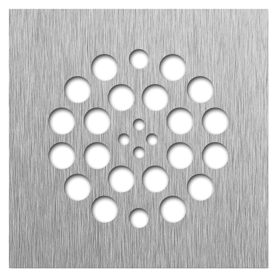 Redi Drain Brushed Nickel Metal Drain Cover