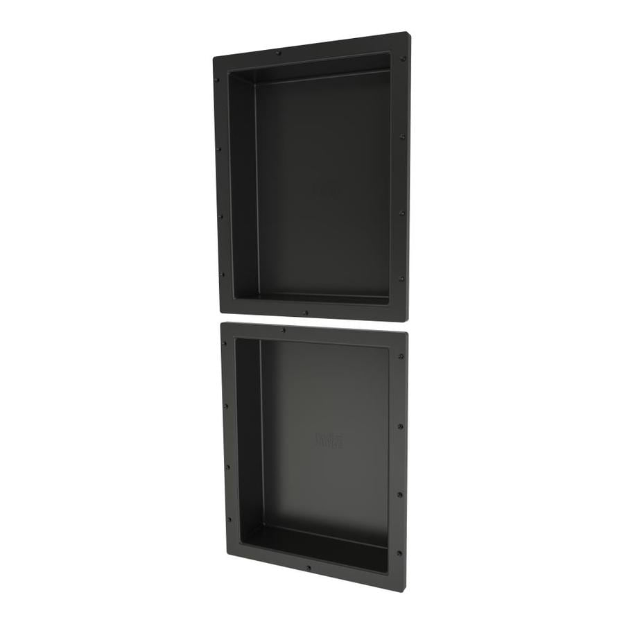 Shop Redi Niche Tile Redi Black Shower Wall Shelf At Lowes.com