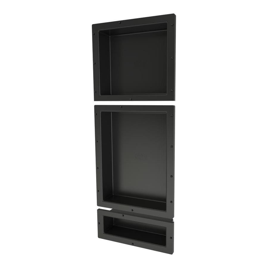 Redi Niche Black Shower Wall Shelf