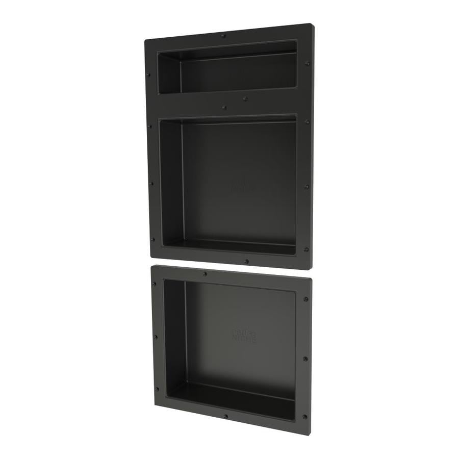 Redi Niche Black Shower Wall Shelf