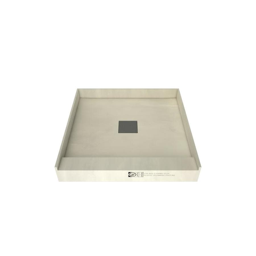 Wonder Drain Made for Tile Molded Polyurethane Shower Base (Common: 48-in W x 48-in L; Actual: 48-in W x 48-in L)