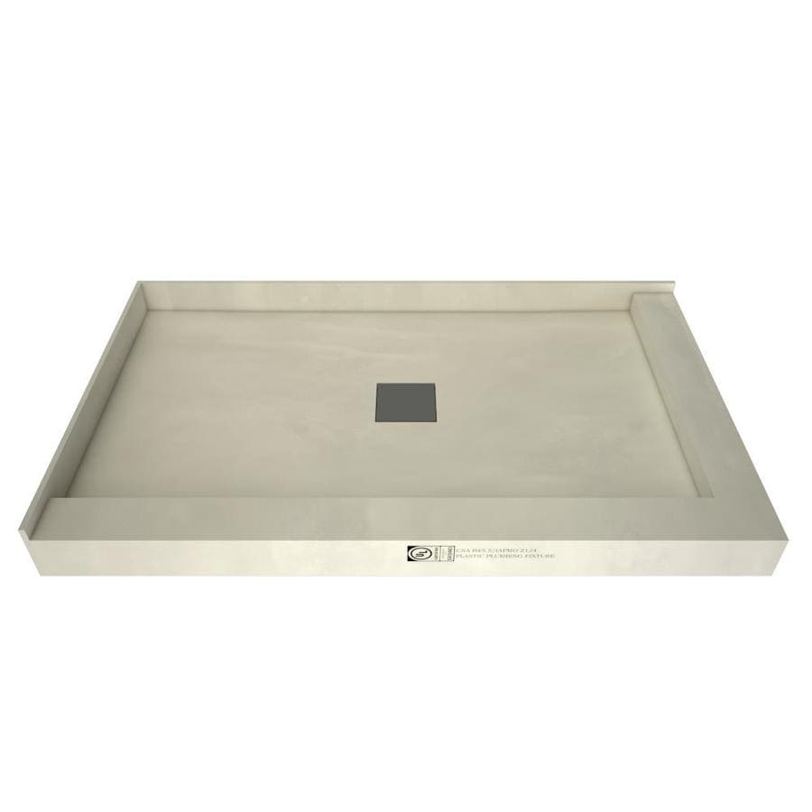 Wonder Drain Made for Tile Molded Polyurethane Shower Base (Common: 34-in W x 48-in L; Actual: 34-in W x 48-in L)