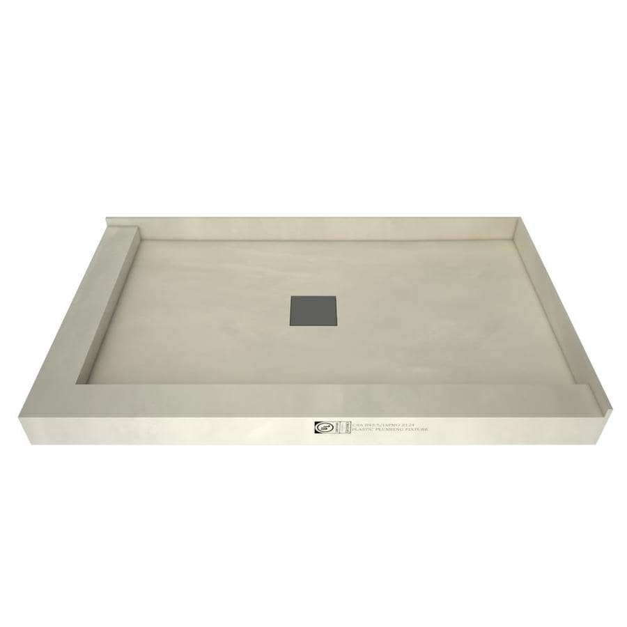 Wonder Drain Made for Tile Molded Polyurethane Shower Base (Common: 36-in W x 42-in L; Actual: 36-in W x 42-in L) with Center Drain