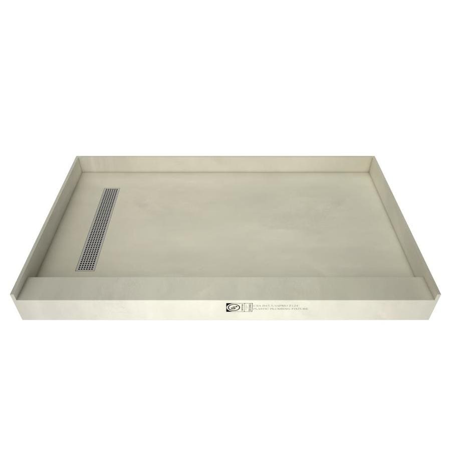 Redi Trench Made for Tile Molded Polyurethane Shower Base (Common: 32-in W x 60-in L; Actual: 32-in W x 60-in L) with Left Drain
