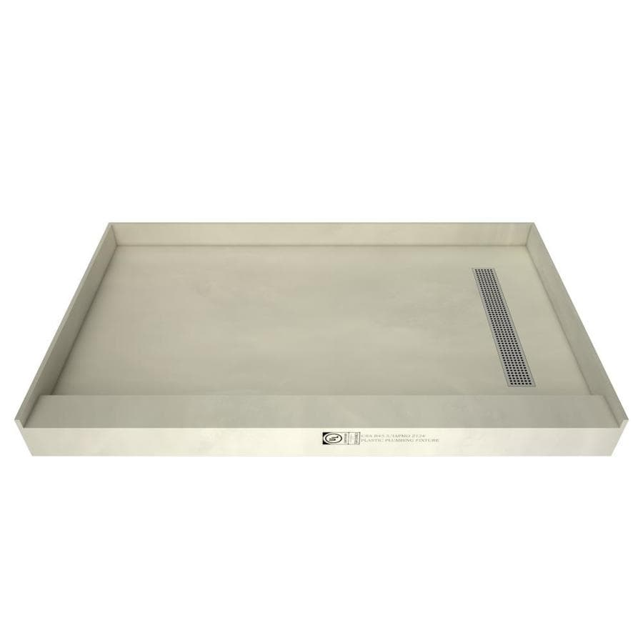 Redi Trench Made for Tile Molded Polyurethane Shower Base (Common: 42-in W x 60-in L; Actual: 42-in W x 60-in L)