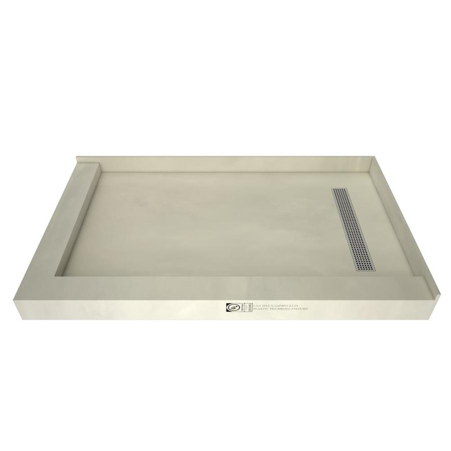 Redi Trench Made for Tile Molded Polyurethane Shower Base (Common: 32-in W x 60-in L; Actual: 32-in W x 60-in L)