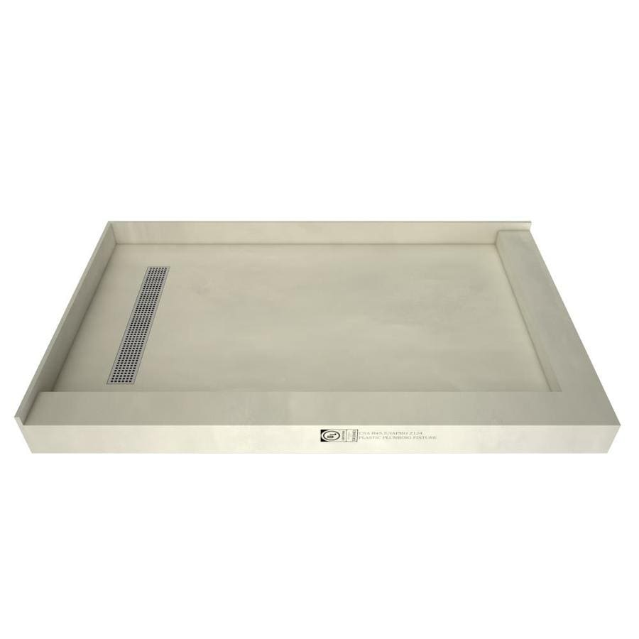Redi Trench Made for Tile Molded Polyurethane Shower Base (Common: 36-in W x 60-in L; Actual: 36-in W x 60-in L) with Left Drain