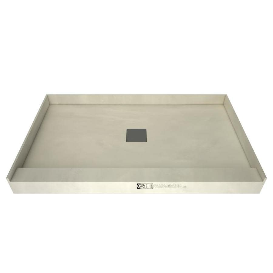 Wonder Drain Made for Tile Molded Polyurethane Shower Base (Common: 42-in W x 48-in L; Actual: 42-in W x 48-in L) with Center Drain