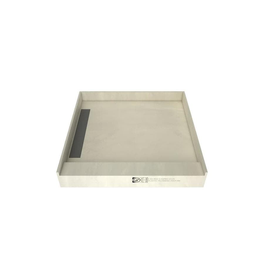 WonderFall Trench Made for Tile Molded Polyurethane Shower Base (Common: 48-in W x 48-in L; Actual: 48-in W x 48-in L) with Left Drain