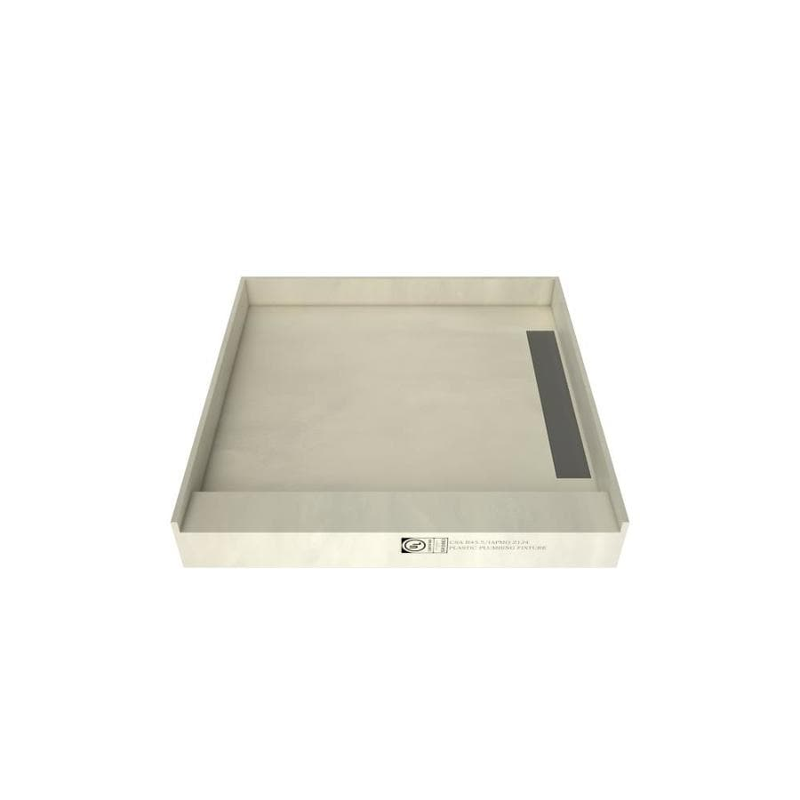 WonderFall Trench Made for Tile Molded Polyurethane Shower Base (Common: 48-in W x 48-in L; Actual: 48-in W x 48-in L)