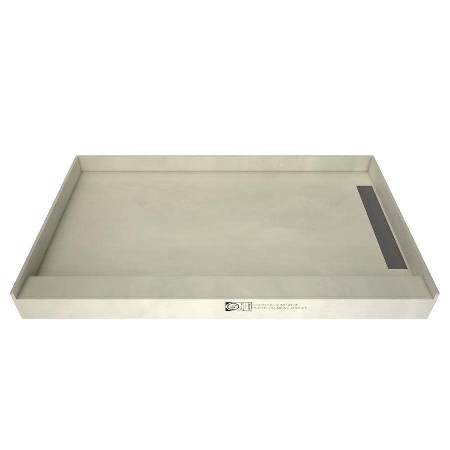 WonderFall Trench Made for Tile Molded Polyurethane Shower Base (Common: 48-in W x 60-in L; Actual: 48-in W x 60-in L)