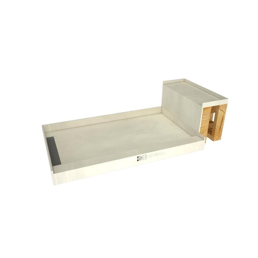 Base'N Bench Made for Tile Molded Polyurethane Shower Base (Common: 32-in W x 60-in L; Actual: 32-in W x 60-in L) with Left Drain