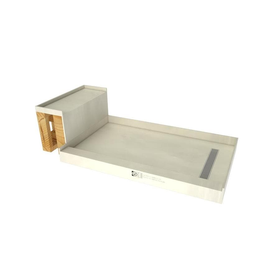 Base'N Bench Made for Tile Molded Polyurethane Shower Base (Common: 34-in W x 60-in L; Actual: 34-in W x 60-in L)