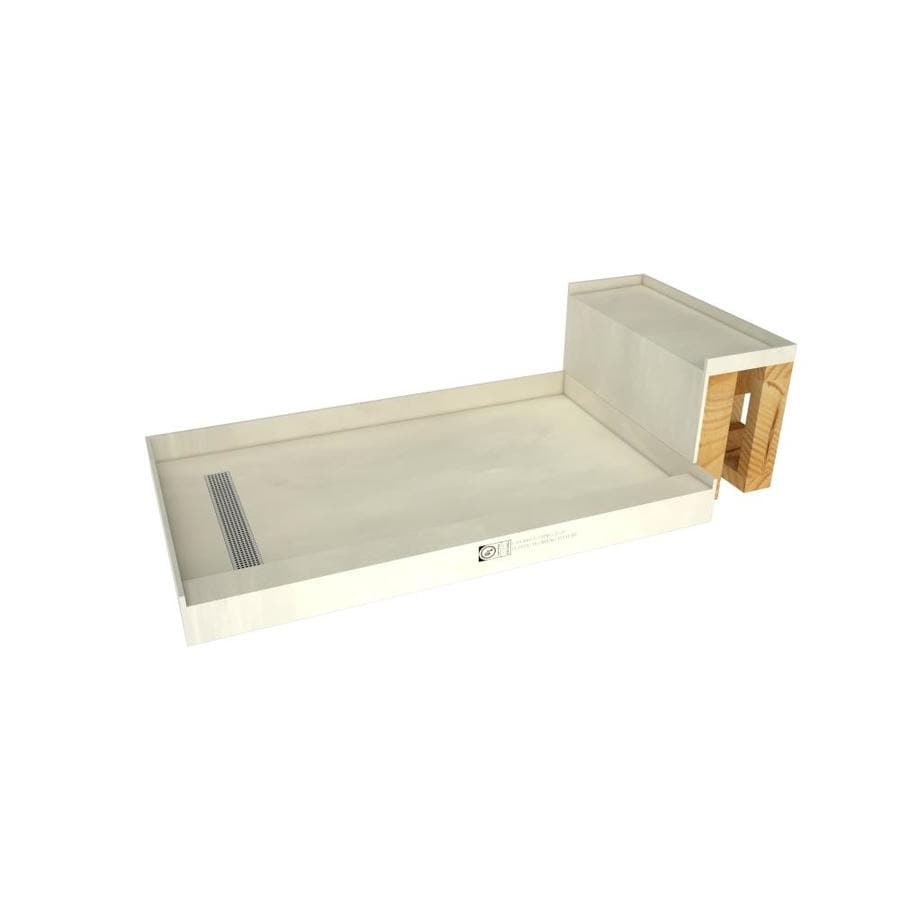 Base'N Bench Made for Tile Molded Polyurethane Shower Base (Common: 42-in W x 60-in L; Actual: 42-in W x 60-in L)